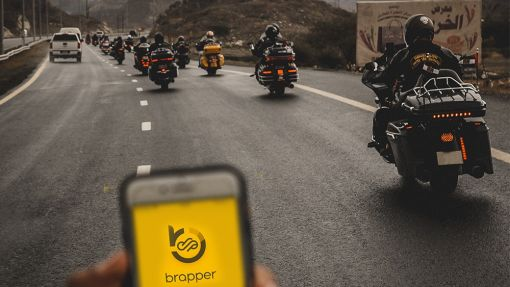 Brapper Mobile App. Social Network for motorcyclists. Download
